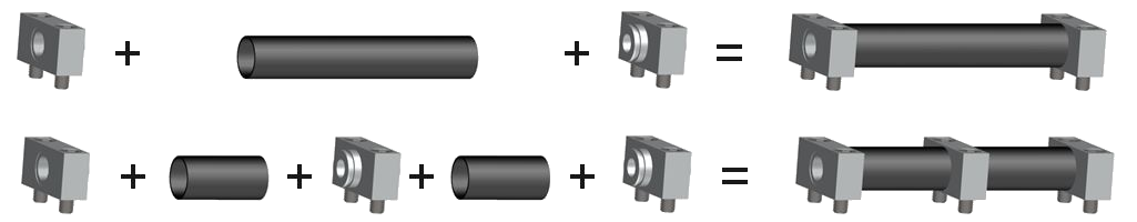 Fittings as connecting elements for carbon tubes