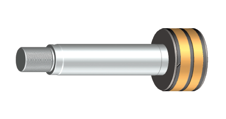 In Hänchen products, piston and piston rod are inseparably joined. The piston is coated with non-ferrous metal, enabling a precise metallic guide. The sophisticated rod ends with rounded edges permit a sealfriendly installation.