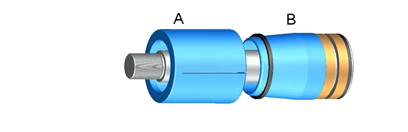 Assembly sleeve (A) and bushing (B) - Piston seal