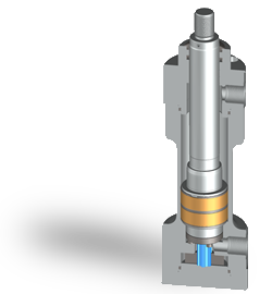Individual construction: Hydraulic cylinder with anti-torsion mechanism